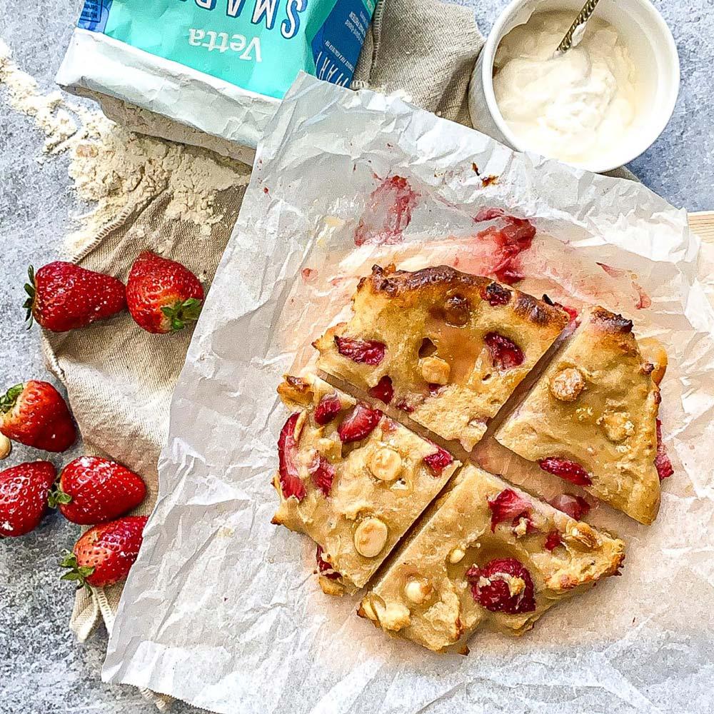 Strawberry Cheesescake Breakfast Cookie with Vetta SMART Protein Flour