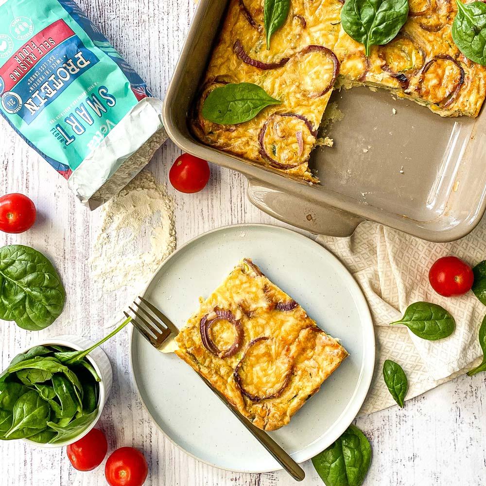 Zucchini Slice with Vetta SMART Protein Flour