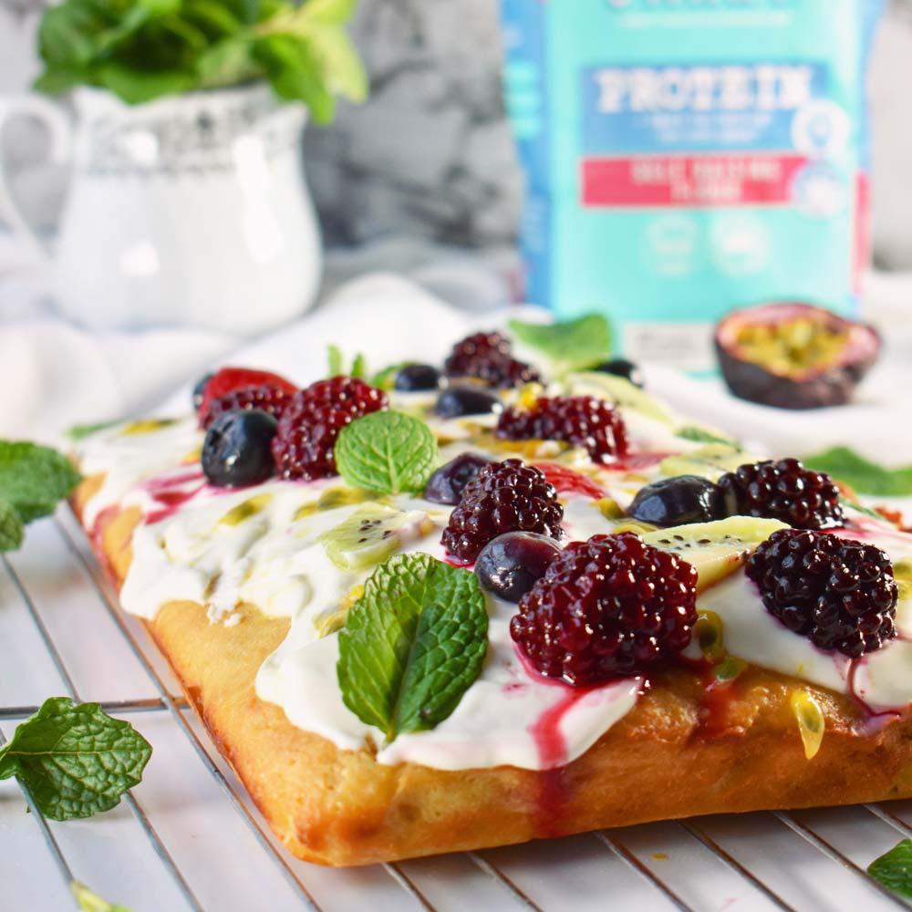 Simple Eton Mess Traybake with Vetta SMART Protein Flour