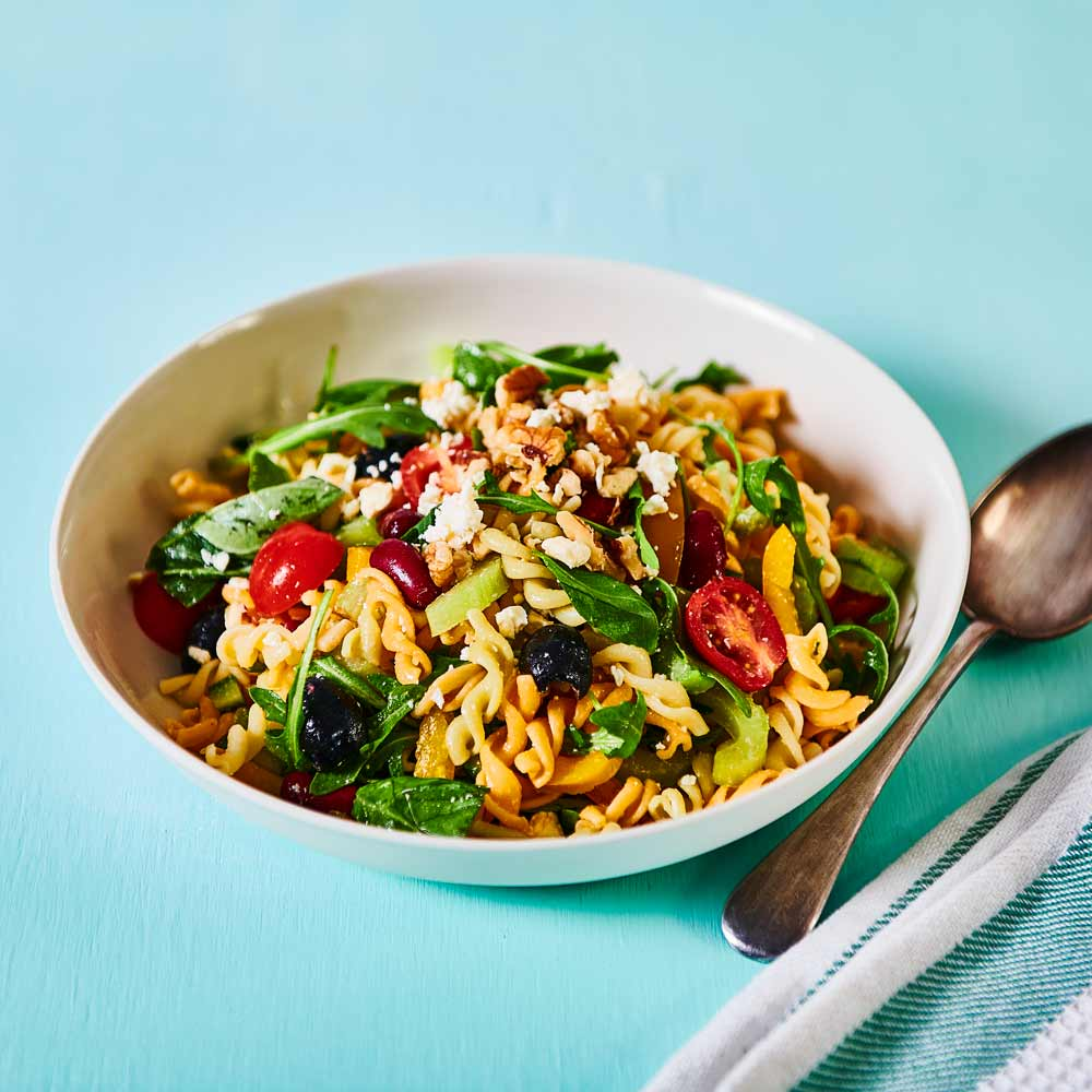 Simple Spring Pasta Salad with SMART Fibre Veg Twists