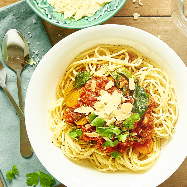 Spaghetti Bolognese with Veggies