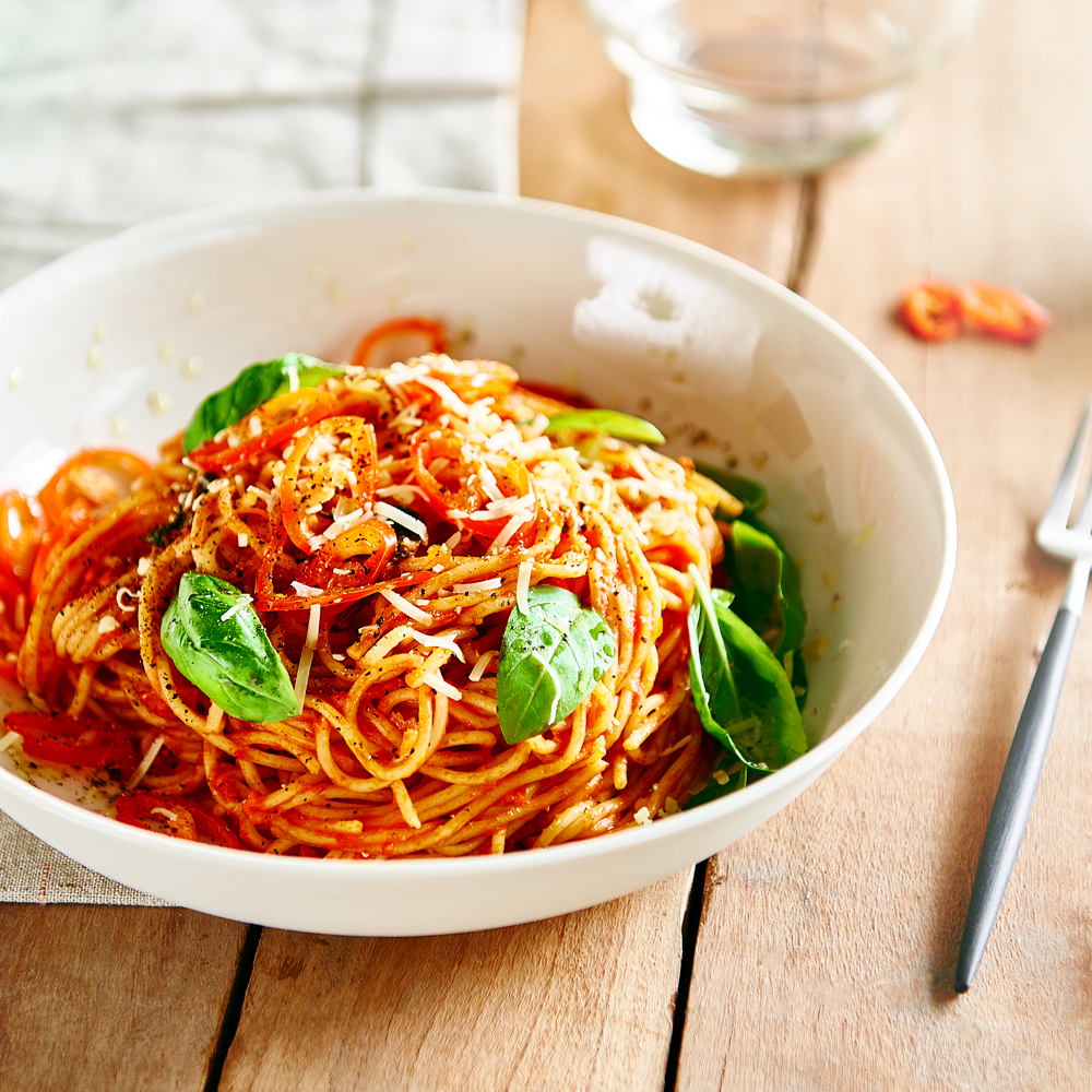 Chilli Basil Passata with SMART Fibre Spaghetti