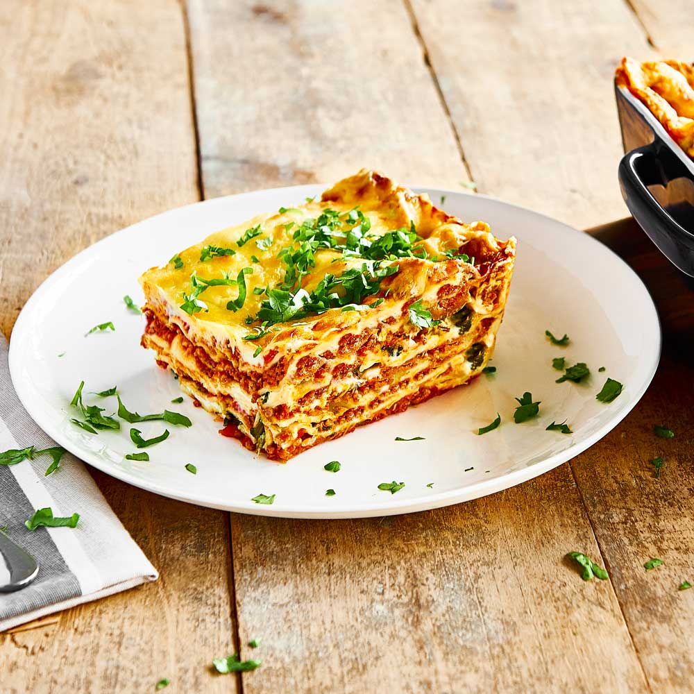 Classic SMART Fibre Lasagne with Spinach Leaves and Ricotta with