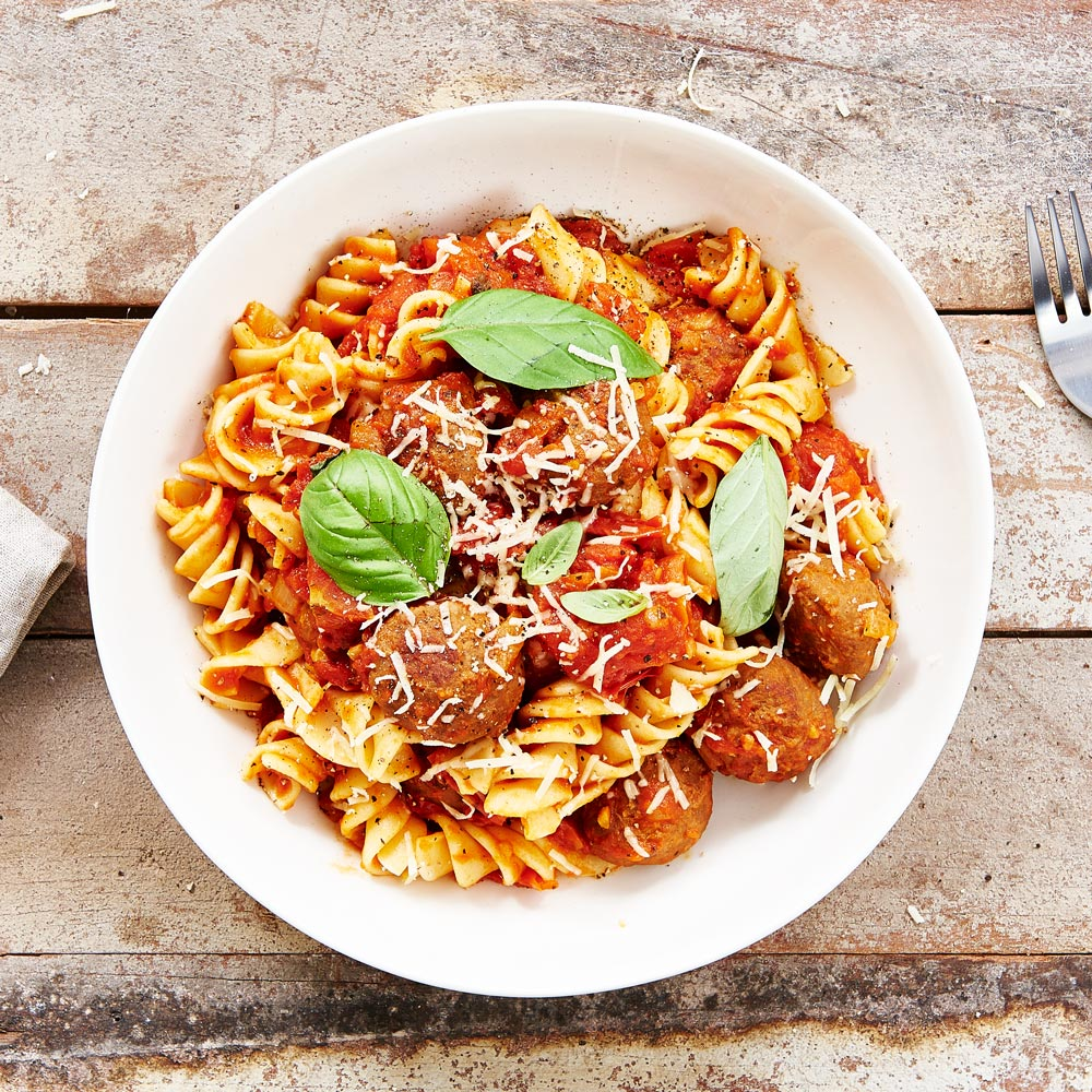 Classic Meatballs and Chunky Tomato Herb Sauce