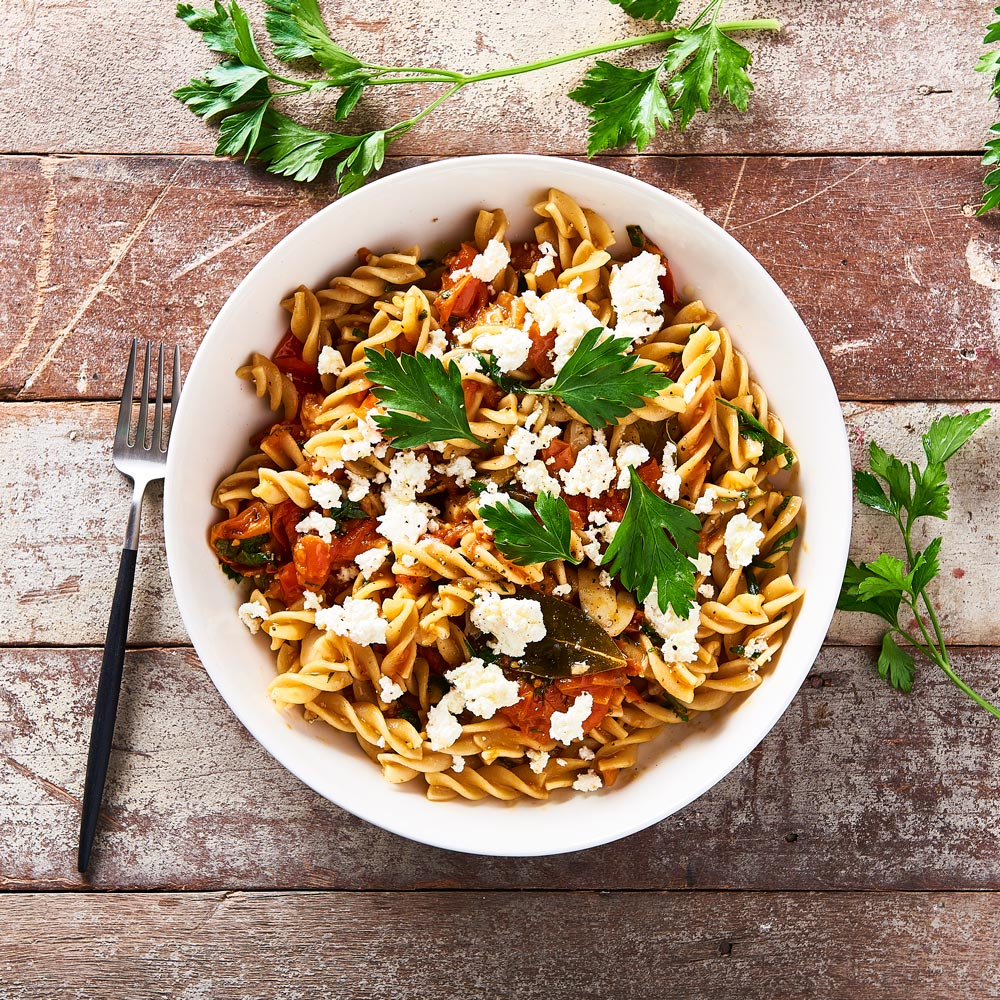 Sweet Roasted Tomato Sauce and Ricotta with SMART Protein Spirals