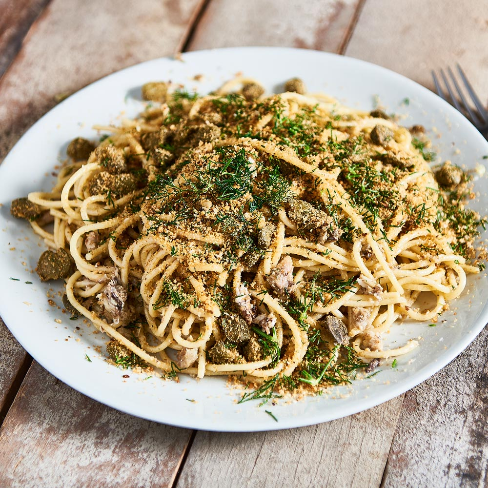 SMART Fibre Spaghetti with Sardines and Fresh Dill