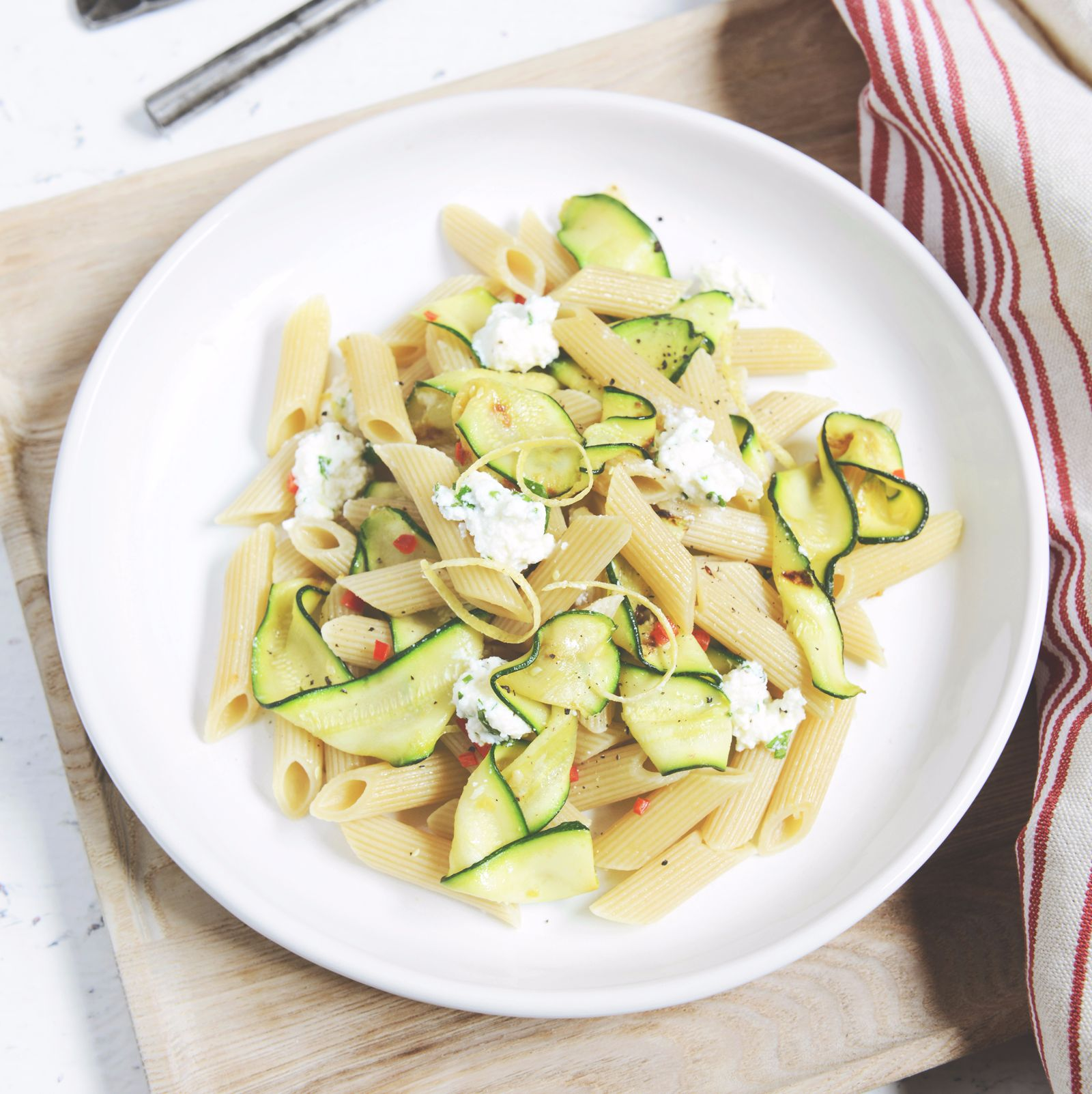 Zucchini Chilli and Herbed Ricotta Penne