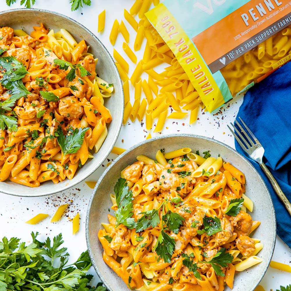 Butter Chicken with Vetta Rural Aid Penne