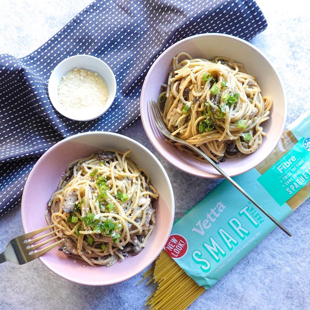 Spaghetti Carbonara with SMART Fibre Spaghetti