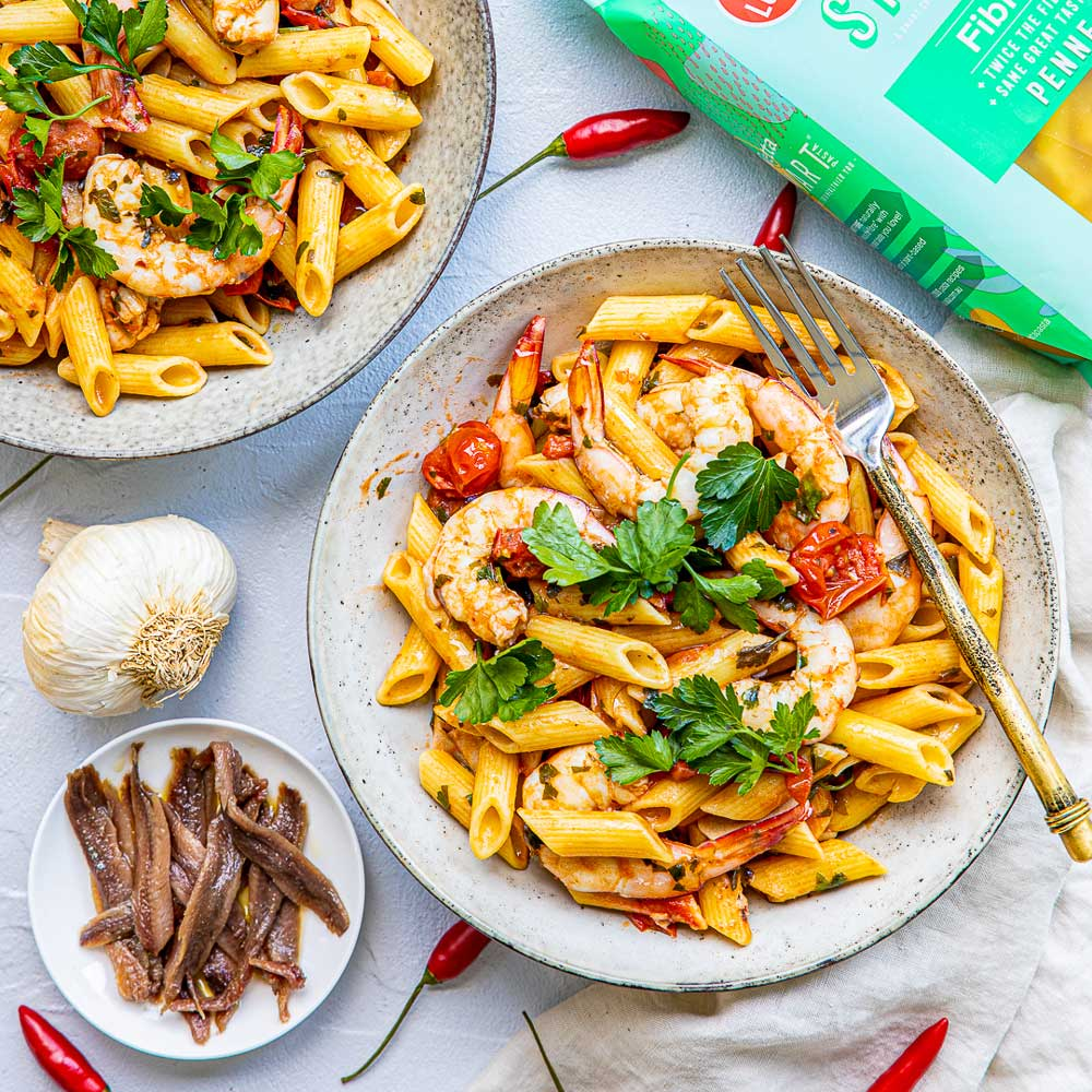 Garlic and Prawn with SMART Fibre Penne
